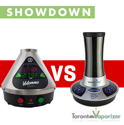 Volcano vs. VapirRise Vaporizer, SHOWDOWN