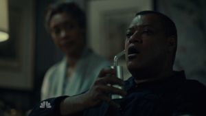 Laurence Fishburne taking draws from an Arizer Solo