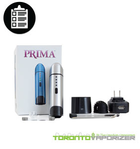 Prima Vaporizer package contents