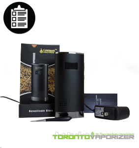 Flowermate V8 vaporizer digital temperature settings package contents