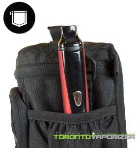 Titan 1 Vaporizer inside bag pocket