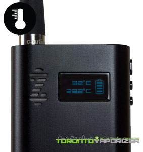 ZEUS Smite Plus Vaporizer digital temperature display