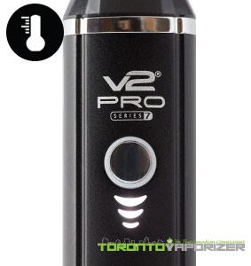 V2 Pro Series 7 Vaporizer temperature lights