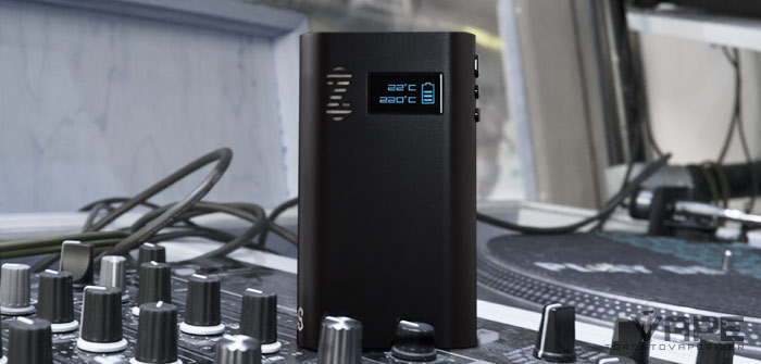 Zeus Smite Vaporizer on a turntable