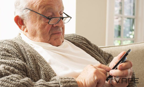 Older Person Using Smartphone