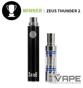 Thunder 2 battery beside wax atomizer