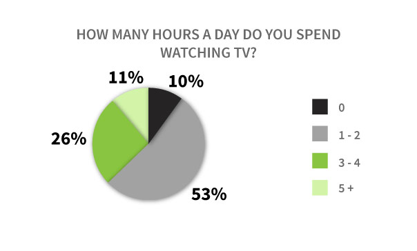 How many hours do spend watching TV