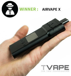 Airvape X in hand