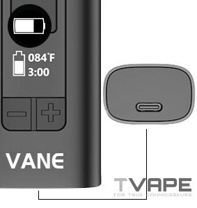 Yocan Vane Vaporizer usb slot